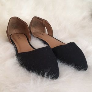 NEVER WORN brown and black flats